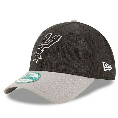San Antonio Spurs New Era 9Forty The League Adjustable Cap,Heathered Black/Grey