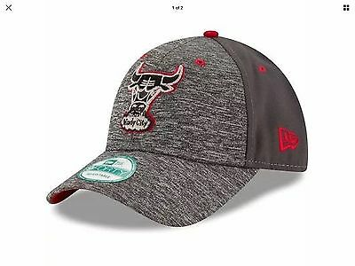 Chicago Bulls New Era 9Forty Shadow Adjustable Cap, Heathered Grey/Graphite