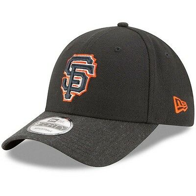 San Francisco Giants New Era 9Forty The League 2 Adjustable Cap, Heathered Black
