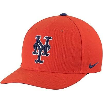 New York Mets Nike Wool Classic Adjustable Performance Cap - Orange