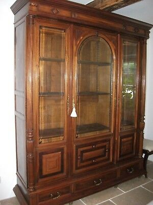 Large Three Door French Armoire/bookcase/display Unit