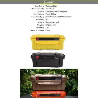 UK Hiking Outdoor Shockproof Waterproof Box Storage Camping Home Container Case