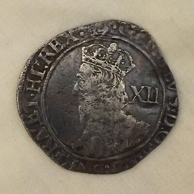 King Charles I silver hammered shilling coin 1st