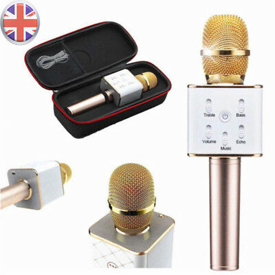 Wireless Bluetooth Portable Karaoke Microphone Speaker Stereo KTV USB Player Q7
