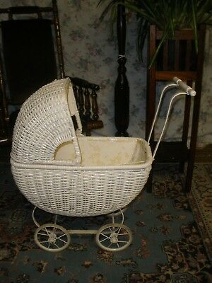 VINTAGE Child's CANE Doll's PRAM