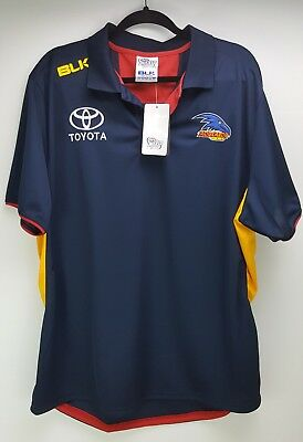 AFL Adelaide Crows men's polo shirt/top 'Official on-field Team Gear' - size 3XL