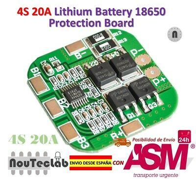 4S 14.8V / 16.8V 20A Peak Li-ion BMS PCM Battery Protection Board