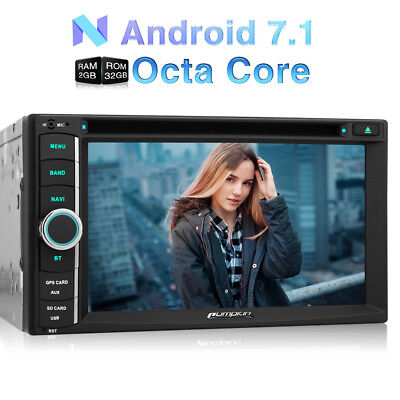 "32GB 2 Din 6.2"" Autoradio DVD Player Octa Core Android 7.1 GPS Navi 3G Wifi OBD2"