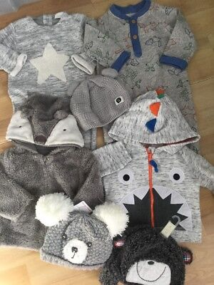 Baby Boys Winter Bundle 3-6 Months Next, F&f Inc Brand New Hats, Tops, Rompers