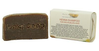 1 piece Henna Shampoo Bar for Red/Auburn Hair, 65g, 100% Natural Handmade
