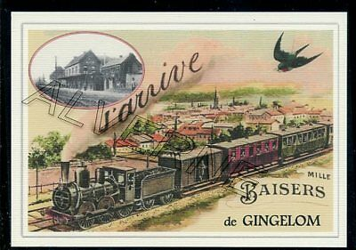 GINGELOM  -..train   souvenir creation moderne serie numerotee