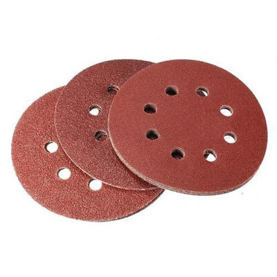 Pack of 15 Loop 60/80/120 Grit Mix Hole Sanding Sheet Disks Hook Sandpaper 125mm