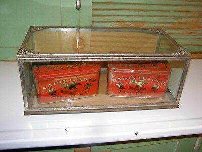 Small Ornate Country GENERAL STORE  glass Display case Antique