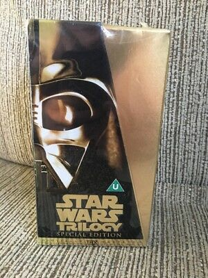 Star Wars Trilogy - Special Edition - Gold Box Set - Pal VHS NEW AND SEALED!!!