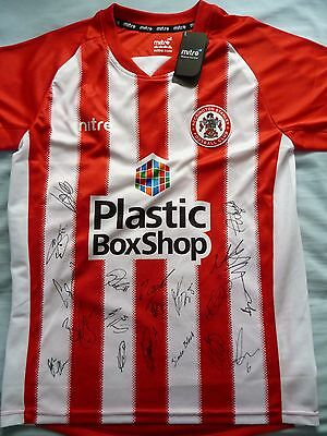 Accrington Stanley Signed Shirt x19 - Football Autograph, 2017-18, Billy Kee