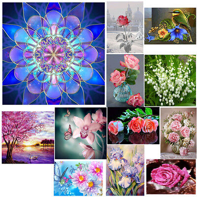 Flower Series 5D Diamond Embroidery Painting Craft Cross Stitch Home Wall Decor