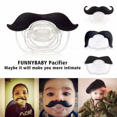 Funny Dummy Dummies Pacifier Novelty Moustache Baby Child Soother Uk Seller