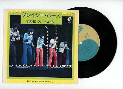 THE OSMONDS EP PS Japan CRAZY HORSES,ONE BAD APPLE
