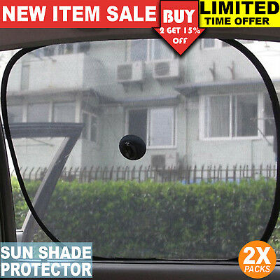 2x Car Rear Side Window Socks Universal Sun Shade Shield Mesh SUN UV Protection