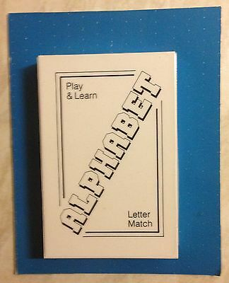 Alphabet letter playing cards learning education toy