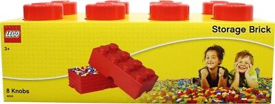 NEW LEGO Storage Brick Red - 8 Knob from Mr Toys