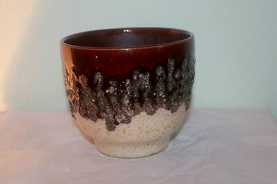 Vintage 60-70's BAY KERAMIK Fat Lava Drip Glaze Planter West German Pottery