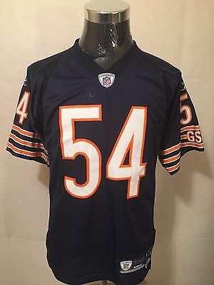 NFL Chicago Bears #54 SML 7048A 2007 SEWN Gridiron Jersey by Reebok