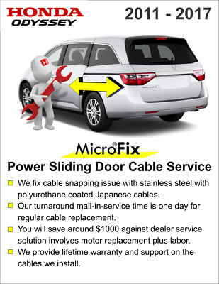 2011 12 13 14 15 16 2017 Odyssey Sliding Door Cable Repair Part - Easy Install