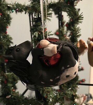 Polymer Clay Black Appaloosa Horse Bell Ornament