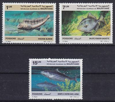 Mauretanien Mi-Nr. 920 - 922 **, Fische / Fishes / Poissons
