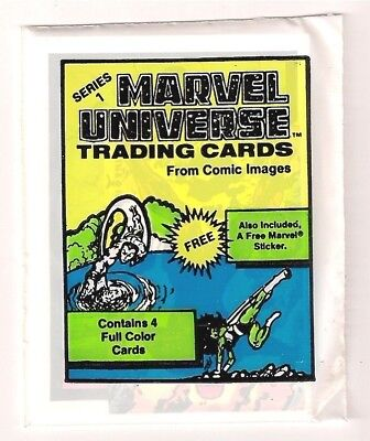 PACKS: 1987 MARVEL UNIVERSE 1 one - with Sticker - RARE