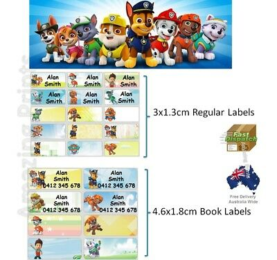 Paw Patrol Vinyl Personalised Name Label Sticker school book boy girl tag custom