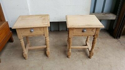 Pair of Oak Stripped Bedside Cabinets