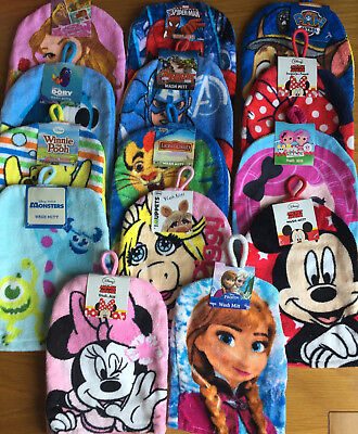 Kids Wash Mitts, Assorted Themes, Great Stocking Filler, Free Postage