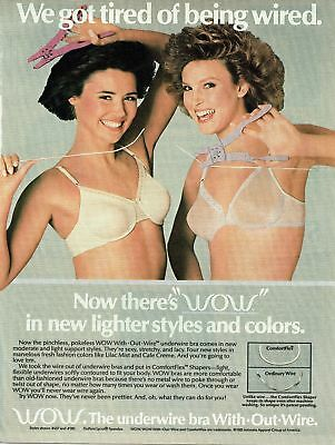 Print Ad~1985~Wow~Brunettes~Sexy~Lacy Bra~8.5x11~D110