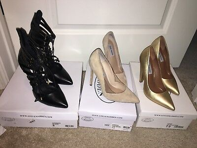 3 Pairs Of Steeve Madden Shoes Size 7 7.5 8