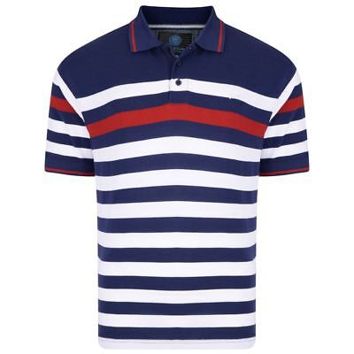 KAM Pure Cotton Mens Yarn Dyed Pique Polo Shirt (5114) in Navy