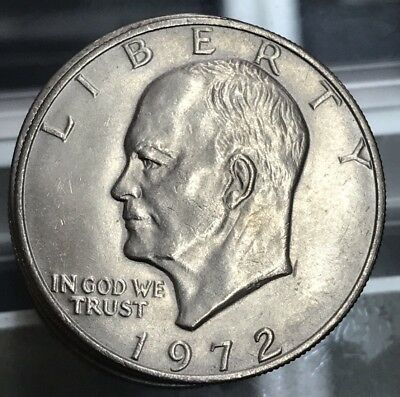 "1972-P Eisenhower Dollar ""Circulated"" US Mint Coin Ike"