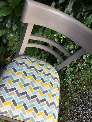 vintage shabby chic dining/occasional chair Annie Sloan French Linen retro