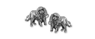 Cavalier King Charles Spaniel Cuff Links Silver Dog Jewelry KC17-CL