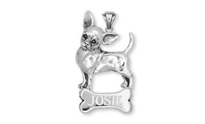 Chihuahua Jewelry Personalized Pendant Handmade Sterling Silver Jewelry CHW2-NP