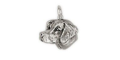Brittany Dog Charm Handmade Sterling Silver Dog Jewelry BR1-C