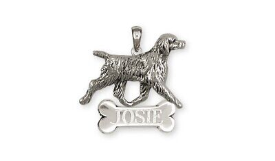 Brittany Dog Personalized Pendant Handmade Sterling Silver Dog Jewelry BR6-NP