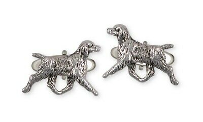 Brittany Dog Cufflinks Handmade Sterling Silver Dog Jewelry BR6-CL