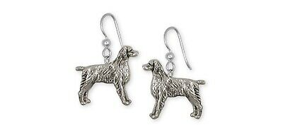 Brittany Dog Earrings Handmade Sterling Silver Dog Jewelry BR7-E