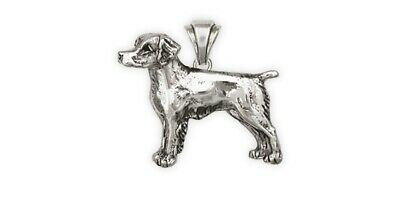 Brittany Dog Pendant Handmade Sterling Silver Dog Jewelry BS1-P