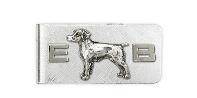 Brittany Dog Money Clip Handmade Sterling Silver Dog Jewelry BS1-MC