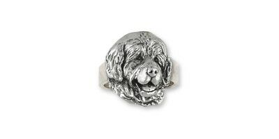 Newfoundland Ring Jewelry Sterling Silver Handmade Dog Ring NU2-R