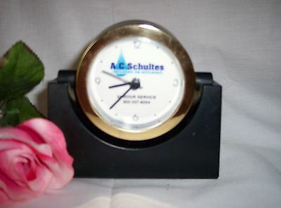 Collectors Advertising Clock 90's  A.C. Schultes Well Drillers  Battery Operated