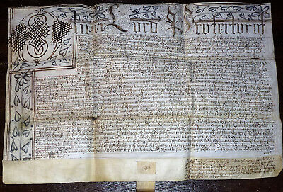 Rare 20th February 1653 Lord Protectorate (Oliver Cromwell) document see details